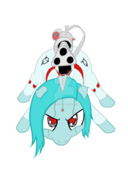 Size: 1024x1365 | Tagged: safe, artist:aeropegasus, oc, oc only, oc:ap63, pony, robot, robot pony, aiming, angry, clothes, digital art, gun, looking at you, watermark, weapon