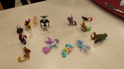 Size: 4128x2322   Tagged: safe, photographer:horsesplease, boyle, capper dapperpaws, captain celaeno, grubber, haven bay, mullet (character), princess skystar, queen novo, salina blue, songbird serenade, storm king, tempest shadow, twilight sparkle, abyssinian, alicorn, classical hippogriff, hippogriff, parrot pirates, anthro, my little pony: the movie, irl, malaysia, merchandise, my busy books, photo, pirate, toy, twilight sparkle (alicorn)