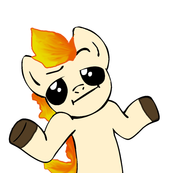 1566091 Artist Verycoolguy Looking At You Meme Pokemon Ponyta Safe Shrug Shrugpony Simple Background Solo Transparent Background Derpibooru