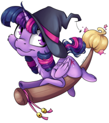 Size: 4404x4961 | Tagged: alicorn, artist:cutepencilcase, broom, cute, hat, safe, simple background, transparent background, twiabetes, twilight sparkle, twilight sparkle (alicorn), witch, witch hat