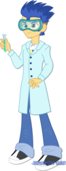 Size: 1280x3292   Tagged: safe, artist:jucamovi1992, flash sentry, a queen of clubs, equestria girls, equestria girls series, goggles, male, outfit, science, scientist, simple background, transparent background, vector