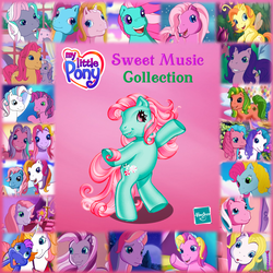 Size: 762x762 | Tagged: safe, screencap, applejack (g3), cheerilee (g3), cotton candy (g3), heart bright, kimono, lily lightly, master kenbroath gilspotten heathspike, minty, pinkie pie (g3), puzzlemint, rainbow dash (g3), rarity (g3), razzaroo, skywishes, sparkleworks, star catcher, star flight, storybelle, sunny daze (g3), sweetberry, thistle whistle, triple treat, wysteria, zipzee, breezie, dragon, earth pony, pegasus, pony, unicorn, a charming birthday, a very minty christmas, a very pony place, come back lily lightly, dancing in the clouds, friends are never far away, positively pink, the princess promenade, the runaway rainbow, two for the sky, album cover, g3, greetings from unicornia, pinkie pie and the ladybug jamboree
