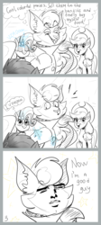 Size: 1360x3040 | Tagged: safe, artist:artmarina-and-sketches, applejack, capper dapperpaws, rarity, abyssinian, anthro, cat, pony, my little pony: the movie, anthro with ponies, button, clothes, coat, comic, glowing horn, grin, magic, meme, redemption, scheming, sewing, smiling, stars, surprised, telekinesis, thought bubble, yaranaika