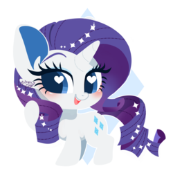Size: 2387x2387 | Tagged: artist:snow angel, chibi, cute, female, heart eyes, mare, pony, raribetes, rarity, safe, smiling, solo, unicorn, wingding eyes