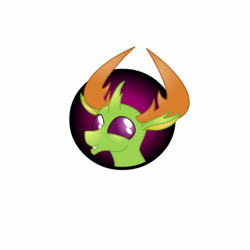 Size: 1200x1200 | Tagged: safe, artist:lakword, thorax, changedling, changeling, bust, candy, food, happy, icon, king thorax, simple background, skittles, solo, transparent background