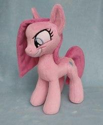 Size: 1377x1678 | Tagged: safe, artist:doctorkoda, pinkie pie, pony, >:d, cute, cuteamena, evil grin, grin, irl, photo, pinkamena diane pie, plushie, smiling, smirk, solo