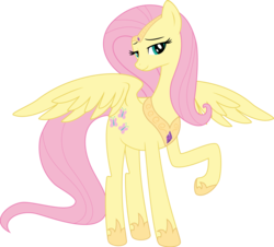 Size: 2256x2036   Tagged: artist needed, source needed, safe, fluttershy, pegasus, pony, .svg available, alternate body style, bedroom eyes, cutie mark, female, hoof boots, jewelry, looking at you, mare, peytral, raised hoof, simple background, solo, spread wings, svg, tiara, transparent background, vector, wings