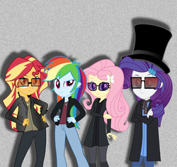 Size: 5328x5018 | Tagged: safe, artist:grapefruitface1, artist:imperfectxiii, artist:sugar-loop, artist:xebck, derpibooru exclusive, edit, vector edit, fluttershy, rainbow dash, rarity, sunset shimmer, equestria girls, equestria girls (movie), rainbow rocks, absurd resolution, band, clothes, cosplay, costume, crossover, group, music, parody, show accurate, the rainbooms, toto (band), vector