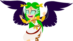 Size: 1042x588 | Tagged: artist:catherinecurse, artist:user15432, base used, equestria girls, equestria girls-ified, glowing eyes, goddess, goddess of light, human, humanized, kid icarus, kid icarus: uprising, midnight sparkle, nintendo, palutena, safe, sci-twi, super smash bros., twilight sparkle, winged humanization, wings