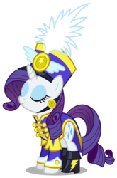 Size: 1979x3000 | Tagged: safe, artist:brony-works, rarity, pony, unicorn, ancient wonderbolts uniform, boots, clothes, eyes closed, female, hat, mare, sgt. rarity, shako, shoes, simple background, solo, transparent background, uniform, vector