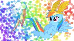 Size: 1366x768 | Tagged: safe, artist:blackgryph0n, artist:bubblehun, artist:shelmo69, rainbow dash, solo, wallpaper