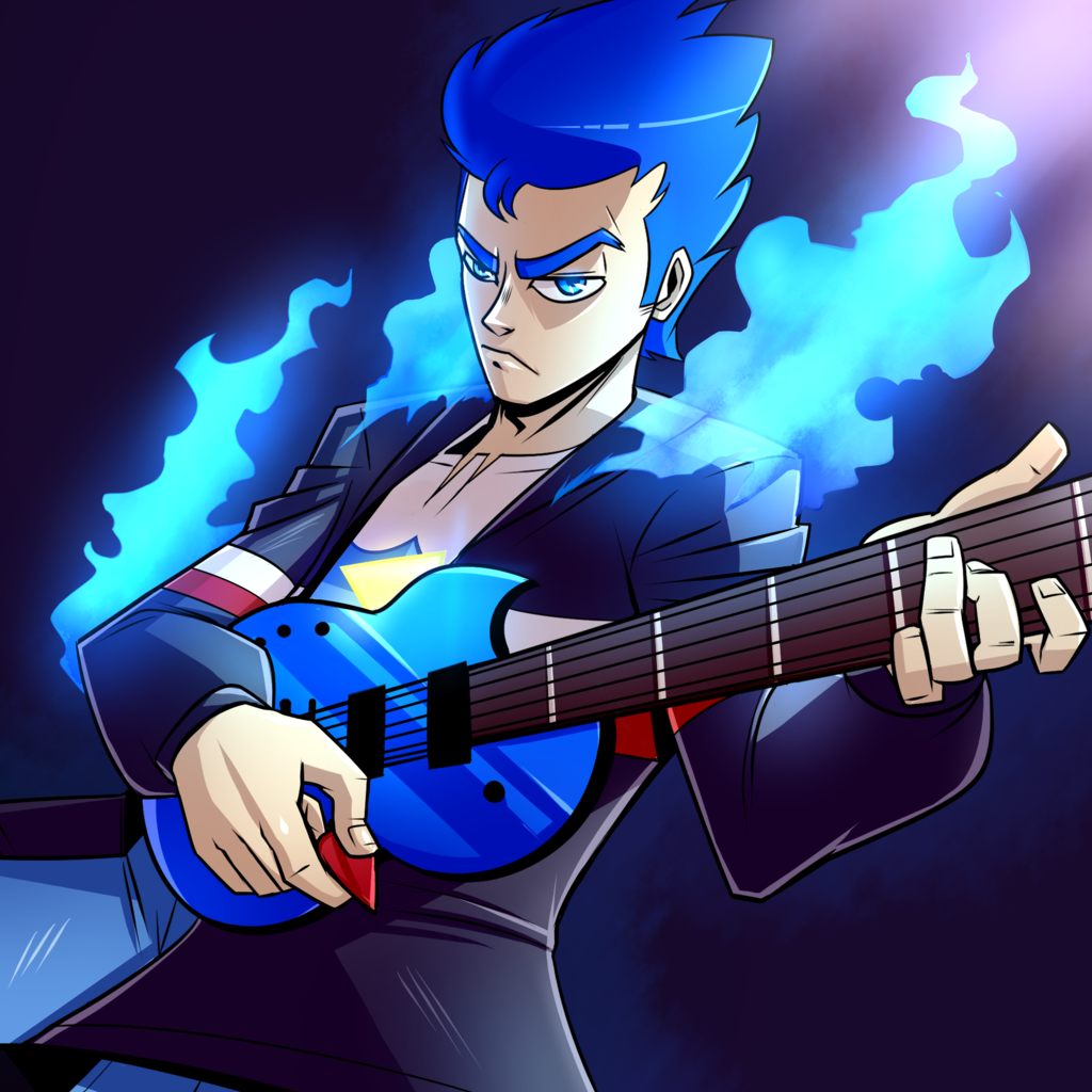 1571765 - artist:imskull, bad guitar anatomy, clothes, electric ...