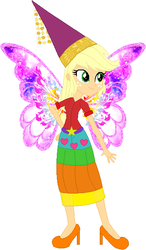 Size: 357x611 | Tagged: safe, artist:selenaede, artist:user15432, applejack, fairy, human, equestria girls, apple fairy, base used, clothes, costume, dress, fairy princess, fairy princess outfit, fairy wings, halloween, halloween costume, high heels, holiday, humanized, princess, princess applejack, princess costume, princess hat, shoes, winged humanization, wings