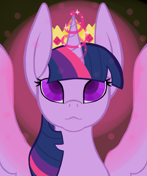 Size: 1000x1200 | Tagged: alicorn, artist:ahaintthatbad, crown, female, jewelry, magic, mare, pony, regalia, safe, solo, twilight sparkle, twilight sparkle (alicorn)