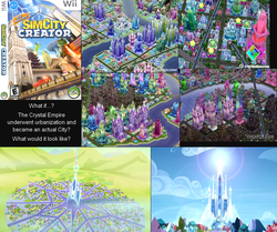 Size: 1833x1532 | Tagged: artist:arima, building, crystal empire, discussion, edit, edited screencap, nintendo, safe, screencap, sim city, sim city creator, wii