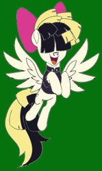 Size: 543x911 | Tagged: artist:icey-wicey-1517, artist:michaela martin, colored, cute, derpibooru exclusive, female, green background, mare, my little pony: the movie, open mouth, pegasus, pony, safe, simple background, solo, songbird serenade, the art of my little pony: the movie