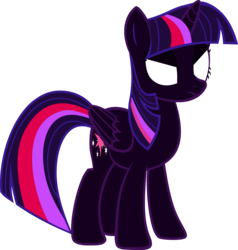 Size: 2948x3093 | Tagged: alicorn, artist:8670310, corrupted, nightmare twilight, nightmarified, safe, simple background, transparent background, twilight sparkle, twilight sparkle (alicorn), vector