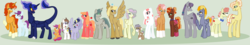 Size: 7592x1360 | Tagged: artist:ur4niumpineapple, colt, earth pony, female, filly, hybrid, interspecies offspring, magical gay spawn, magical lesbian spawn, male, mare, oc, oc:lilac lotus, oc only, oc:pacific rose, oc:pebble, oc:pinova, oc:raspberry pie, oc:sandstorm, oc:silver sky, oc:snowberry, oc:sunny sandwich, oc:sunset surprise, oc:vesper, offspring, parent:apple bloom, parent:applejack, parent:big macintosh, parent:cheese sandwich, parent:derpy hooves, parent:discord, parent:flam, parent:flim, parent:fluttershy, parent:inky rose, parent:lightning dust, parent:limestone pie, parent:marble pie, parent:maud pie, parent:octavia melody, parent:pinkie pie, parent:pipsqueak, parent:princess luna, parent:quibble pants, parent:rainbow dash, parent:rarity, parents:cheeseburst, parents:flamgallop, parents:flimjack, parents:flutterpie, parent:silver spoon, parents:inkymaud, parents:lightningstone, parents:lunacord, parents:marbletavia, parents:quibblebreeze, parents:raridash, parents:silversqueak, parents:sugarmac, parents:tenderbloom, parents:twerpy, parent:sugar belle, parent:sunburst, parent:svengallop, parent:tender taps, parent:twilight sparkle, parent:zephyr breeze, pegasus, pony, safe, simple background, stallion, unicorn, unnamed oc, wall of tags