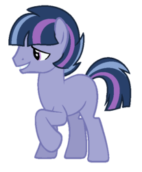 Size: 484x584 | Tagged: artist:cutiesparkle, earth pony, male, oc, oc:northern star, oc only, offspring, parent:star tracker, parents:twitracker, parent:twilight sparkle, pony, safe, simple background, solo, stallion, transparent background