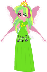 Size: 392x604 | Tagged: safe, artist:selenaede, artist:user15432, lemon zest, fairy, human, equestria girls, friendship games, base used, clothes, crown, crystal prep shadowbolts, dress, fairy princess, fairy princess outfit, fairy wings, gloves, halloween, halloween costume, headphones, holiday, humanized, jewelry, music notes, princess, princess costume, regalia, simple background, white background, winged humanization, wings