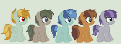 Size: 831x302 | Tagged: safe, artist:rainboomblast29, oc, oc only, pony, adoptable, foal, magical lesbian spawn, offspring, parent:applejack, parent:cheese sandwich, parent:double diamond, parent:fluttershy, parent:lightning dust, parent:maud pie, parent:party favor, parent:pinkie pie, parent:rarity, parents:cheesejack, parents:doublejack, parents:flutterdust (pairing), parents:partypie, parents:rarimaud
