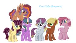 Size: 1024x581 | Tagged: safe, artist:someweirdoinpink, oc, oc only, pony, interspecies offspring, magical lesbian spawn, offspring, parent:applejack, parent:derpy hooves, parent:dumbbell, parent:fido, parent:fluttershy, parent:lily, parent:pinkie pie, parent:rainbow dash, parent:rarity, parent:saffron masala, parent:twilight sparkle, parent:wild fire, parents:derpity, parents:dumbjack, parents:fidopie, parents:lilylight, parents:saffrondash, parents:wildshy