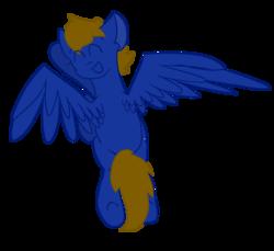 Size: 1061x971 | Tagged: safe, artist:mlpcreationist, oc, oc only, oc:ferrum, object pony, original species, pegasus, pony, element pony, ponified, request, solo, waving