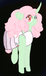 Size: 310x514 | Tagged: artist:mlpcreationist, changeling queen oc, crossover, female, half changeling, halloween, halloween costume, holiday, oc, oc:emerald rose, oc only, rose quartz (steven universe), safe, solo, steven universe