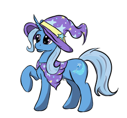 Size: 1272x1181 | Tagged: artist:xaik0x, cape, clothes, female, hat, mare, pony, safe, simple background, solo, trixie, trixie's cape, trixie's hat, unicorn, white background