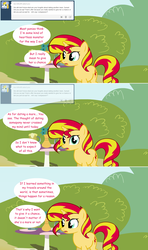 Size: 1280x2168 | Tagged: artist:hakunohamikage, ask, ask-princesssparkle, comic, female, mare, pony, safe, solo, sunset shimmer, tumblr, unicorn