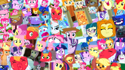 Size: 1920x1080 | Tagged: safe, adagio dazzle, applejack, big macintosh, bright mac, discord, fluttershy, grubber, juniper montage, maud pie, pear butter, pinkie pie, princess luna, rainbow dash, rarity, starlight glimmer, sweetie belle, trixie, twilight sparkle, wrangler, zippoorwhill, alicorn, equestria girls, my little pony: the movie, animal costume, applelion, armor, astrodash, athena sparkle, background pony, clothes, costume, faic, floppy ears, meme, my little pony, pinkie puffs, stingbush seed pods, twilight sparkle (alicorn), wavy mouth, why i'm creating a gown darling