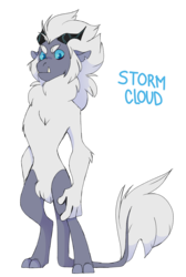 Size: 1280x1903 | Tagged: artist:xcolorblisssketchx, bipedal, male, my little pony: the movie, oc, oc only, oc:storm cloud, parent:storm king, safe, simple background, solo, storm king's species, transparent background