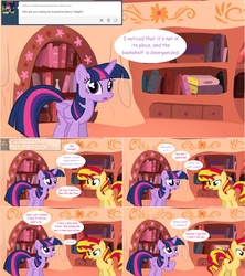 Size: 1284x1444 | Tagged: alicorn, artist:hakunohamikage, ask, ask-princesssparkle, comic, golden oaks library, pony, safe, sunset shimmer, tumblr, twilight sparkle, twilight sparkle (alicorn)