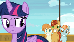 Size: 1920x1080 | Tagged: safe, screencap, agua fresca, lily peel, twilight sparkle, alicorn, earth pony, pegasus, pony, once upon a zeppelin, airship, background pony, female, male, mare, stallion, twilight sparkle (alicorn), unnamed pony, zeppelin