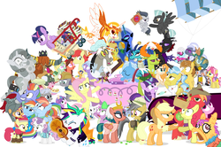 Size: 1289x856 | Tagged: a flurry of emotions, a health of information, alicorn, all bottled up, alternate hairstyle, angel bunny, anger magic, applejack, applejack's parents, a royal problem, artist:dm29, backwards cutie mark, ballerina, basket, bee sentry, big macintosh, bimbettes, bottled rage, bow hothoof, brightbutter, bright mac, camera, campfire tales, celestial advice, changedling, changeling, chipcutter, cinnamon nuts, clothes, colt, crossing the memes, cup, daring do, daring done?, daybreaker, dear darling, discord, discordant harmony, doctor fauna, dragon, dragon lord ember, earth pony, equestrian pink heart of courage, fame and misfortune, feather bangs, female, filly, flash bee, flash magnus, flash sentry, flash sentry bee, fluttershy, fluttershy leans in, fond feather, food, forever filly, friendship journal, ginseng teabags, glowpaz, guitar, guitarity, hard to say anything, heart, heart eyes, helmet, hoity toity, honest apple, hug, it isn't the mane thing about you, jalapeno red velvet omelette cupcakes, kettle corn, king thorax, kite, magic, male, mare, marks and recreation, maud pie, meme, micro, mining helmet, mini twilight, mistmane, muffin, nightmare moon, not asking for trouble, pancakes, parental glideance, pear butter, pegasus, pharynx, photo finish, piñata, pineapple, pinkie pie, pizza costume, pizza head, pony, prince rutherford, princess ember, princess flurry heart, punk, rainbow dash, rainbow dash's parents, raripunk, rarity, reformed four, rockhoof, rock solid friendship, rumble, safe, scootaloo, shipping, shopping cart, simple background, somnambula, spike, spoiler:s07e13, spoiler:s07e14, spoiler:s07e18, spoiler:s07e19, stallion, starlight glimmer, statue, stingbush seed pods, straight, strawberry, strawberry sunrise, sugar belle, sugarmac, sweetie belle, swoon song, teacup, that pony sure does love kites, that pony sure does love teacups, the meme continues, the perfect pear, the story so far of season 7, this isn't even my final form, thorax, thunderlane, to change a changeling, triple threat, trixie, tutu, twilarina, twilight sparkle, twilight sparkle (alicorn), unicorn, uniform, wall of tags, whammy, white background, why i'm creating a gown darling, wild fire, windyhoof, windy whistles, wingding eyes, winged teapot, wonderbolts uniform, yak, zebra, zecora