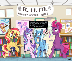 Size: 4200x3600 | Tagged: alicorn, anatomically incorrect, artist:docwario, big macintosh, broken horn, chair, counterparts, cute, female, filly, fizzlepop berrytwist, fun with acronyms, get, hanging, hang in there, humiliation, implied flurry heart, inconvenient trixie, incorrect leg anatomy, mare, moondancer, my little pony: the movie, pin the tail on the pony, pony, princess big mac, princess cadance, princess celestia, princess luna, reformed villain, rocking chair, safe, scootaloo, scootaloo can't fly, shaming, shimmerbetes, starlight glimmer, subtle as a train wreck, sunset shimmer, tempest shadow, this will end in pain, trixie, twilight's counterparts, twilight sparkle, twilight sparkle (alicorn), unicorn
