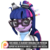 Size: 894x894 | Tagged: safe, artist:dazzion, sci-twi, twilight sparkle, pony, unicorn, eqg summertime shorts, mad twience, 3d, clothes, cute, equestria girls ponified, glasses, goggles, lab coat, mad scientist, patreon, patreon logo, ponified, simple background, source filmmaker, transparent background, twiabetes