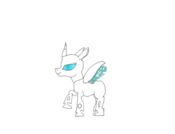 Size: 1023x781 | Tagged: artist:omni, changeling, changeling oc, concept, kira the changeling, oc, oc only, safe, white changeling