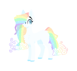 Size: 606x559 | Tagged: safe, artist:rockruffian, oc, oc only, oc:cosmica galactic, base used, rainbow hair, simple background, solo, transparent background, unshorn fetlocks