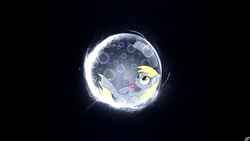 Size: 1920x1080 | Tagged: safe, artist:jave-the-13, edit, derpy hooves, bubble, solo, wallpaper, wallpaper edit