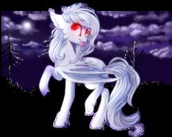 Size: 999x799 | Tagged: safe, artist:gloriajoy, oc, oc only, oc:wynter skye, bat pony, bat pony oc, cute, detailed background, happy, moon, night, raised hoof, red eyes, tongue out, ych result