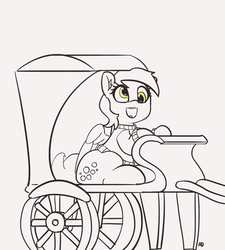 Size: 1280x1420 | Tagged: 30 minute art challenge, artist:pabbley, clothes, cute, derpabetes, derpy hooves, female, mare, open mouth, partial color, pegasus, pony, safe, smiling, sweater, taxi