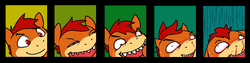 Size: 1600x400 | Tagged: artist:darkdoomer, close-up, expressions, ms paint, oc, oc only, oc:patachu, safe