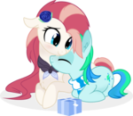 Size: 6602x5715 | Tagged: absurd res, artist:aureai, blushing, chest fluff, clothes, colt, cuddling, cute, cutie mark, daaaaaaaaaaaw, dawwww, ear fluff, eyes closed, featured image, female, floppy ears, happy, hnnng, hug, looking down, male, mare, nuzzling, oc, oc:aureai, ocbetes, oc:cyan lightning, oc only, pegasus, pony, present, prone, safe, scarf, simple background, smiling, .svg available, transparent background, unicorn, vector