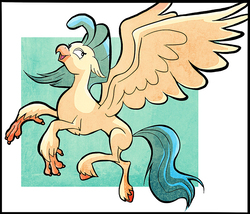 Size: 800x685 | Tagged: safe, artist:nukilik, princess skystar, classical hippogriff, hippogriff, my little pony: the movie, female, missing accessory, solo
