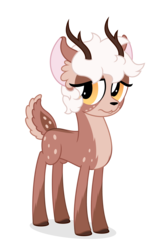 Size: 1975x3009 | Tagged: 2018 community collab, artist:zutheskunk, deer, derpibooru community collaboration, female, oc, oc only, oc:sandy quinn, safe, simple background, solo, transparent background, vector
