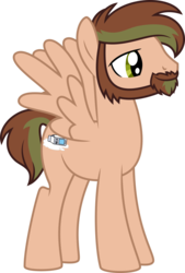 Size: 636x939 | Tagged: 2018 community collab, artist:gingerscribbs, beard, derpibooru community collaboration, facial hair, inkscape, mod pony, oc, oc:gingerscribbs, oc only, pegasus, pony, ponyscape, safe, simple background, solo, transparent background, vector
