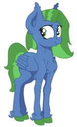Size: 2390x3952 | Tagged: safe, artist:paskanaakka, derpibooru exclusive, oc, oc only, oc:sky cleaner, pegasus, pony, 2018 community collab, derpibooru community collaboration, chest fluff, colored hooves, ear fluff, female, mare, simple background, smiling, smirk, solo, transparent background, unshorn fetlocks