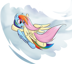 Size: 1550x1391 | Tagged: artist:sokolas, female, flutterdash, fluttershy, lesbian, pony, rainbow dash, safe, shipping