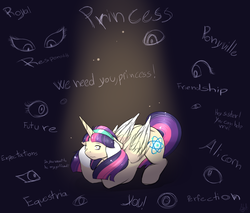 Size: 2000x1700 | Tagged: safe, artist:mah521, oc, oc only, oc:owl light, alicorn, pony, atom, eye, female, mare, offspring, parent:sunburst, parent:twilight sparkle, parents:twiburst, pressure, solo